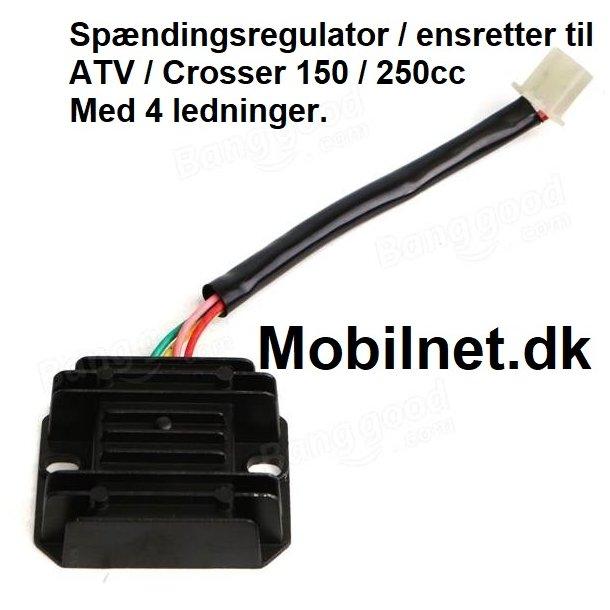 Spændingsregulator til ATV / Crosser 150 / 250cc