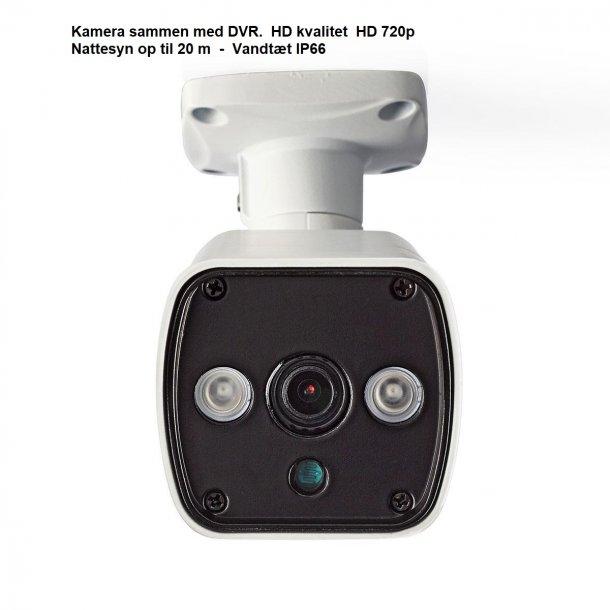 Overvågningskamera - CCTV i HD kvalitet  til DVR