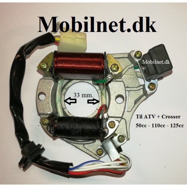 Tændings system stator til ATV 110 cc