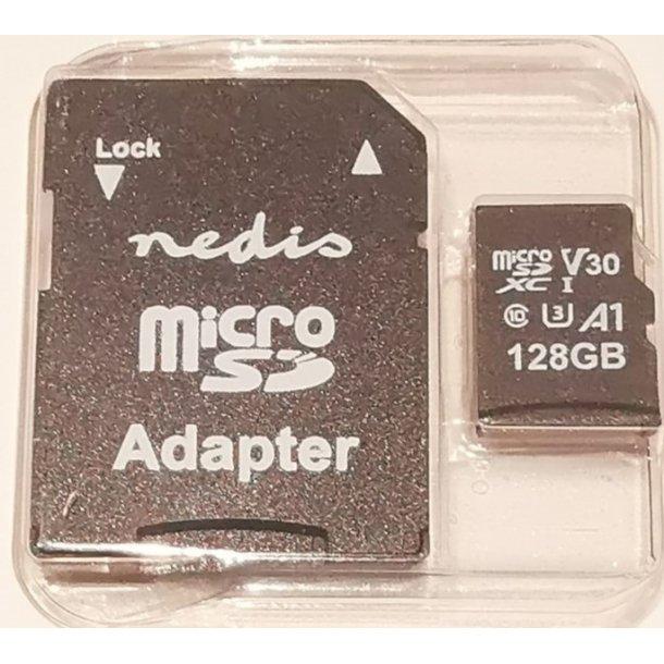 Hukommelseskort microSDHC på 128 GB og Skriver op til 90 Mbps er Klasse 10