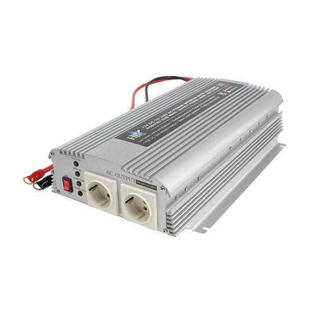 12 volt omformer til 220 volt max 1000W / 2000 w