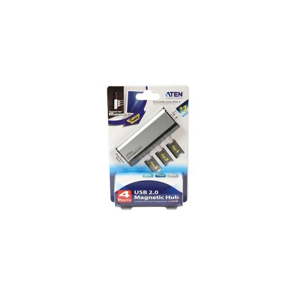 4-PORTARS MAGNETISK USB 2.0-HUBB MED NEC-CHIP