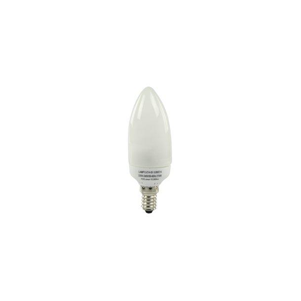 9 watt lavenergi pære E14 9 watt = 40 watt