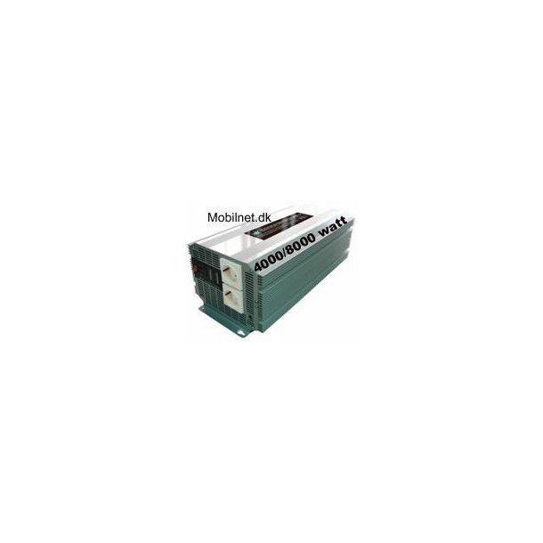 12 volt omformer til 230 volt 4000W max 8000 watt.