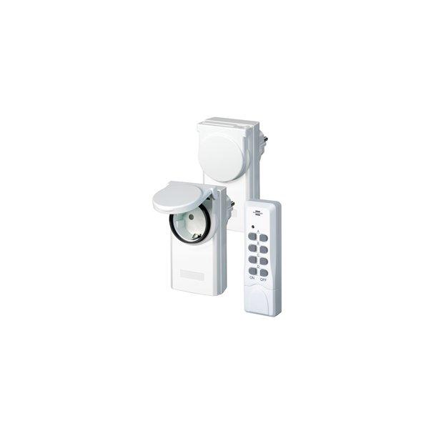 Fjernstyret Kontakter til udendørs brug ip44