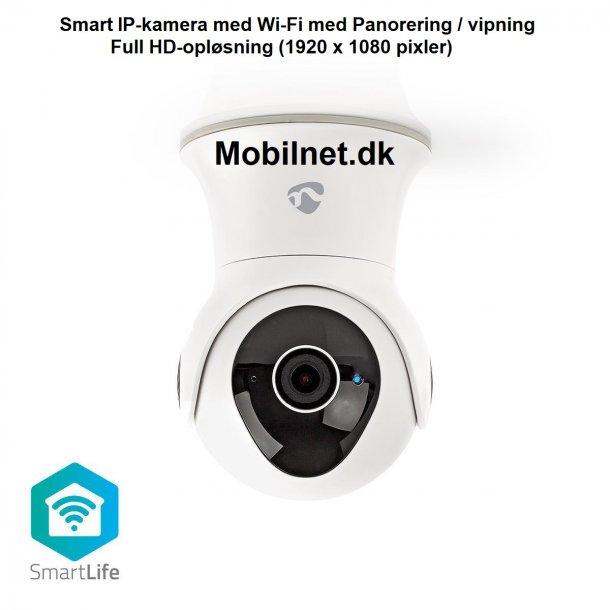 Smart IP-kamera med Wi-Fi med Panorering/vipning i Full HD 1.080p Udendørs og er Vandtæt.