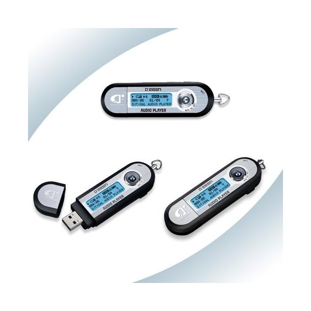 1 Nyhed   256 mb USB-MP3 player med radio