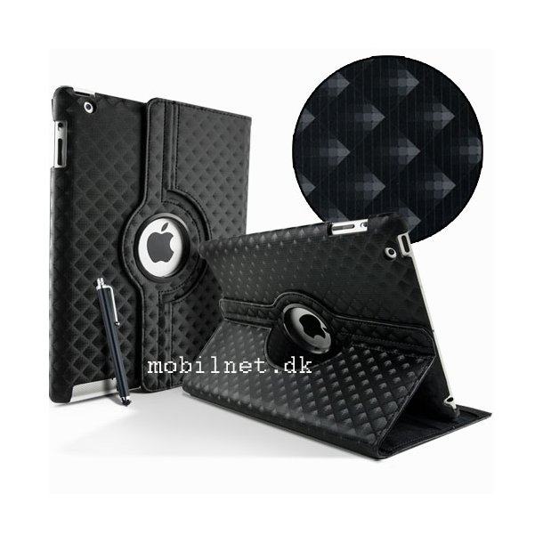 Ipad case Black Diamond Weave