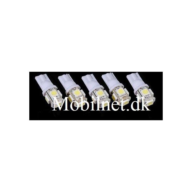 ledpære Xenon hvid T10 Led 5 - 1 stk