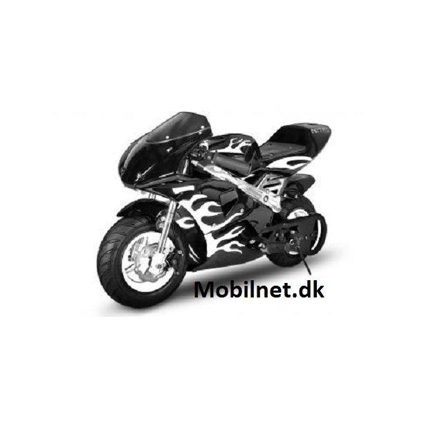 PocketBike med Fuldkåbe på 49cc sort