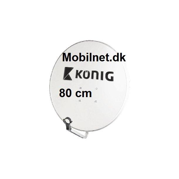 80cm parabolantenne med med LNB-holder 23-40mm
