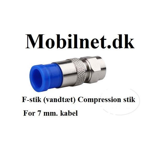 F-stik (vandtæt) Compression stik..