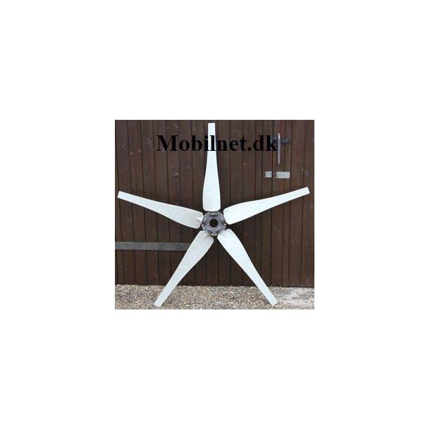 Wind Turbine 5 Blade lys gråSæt