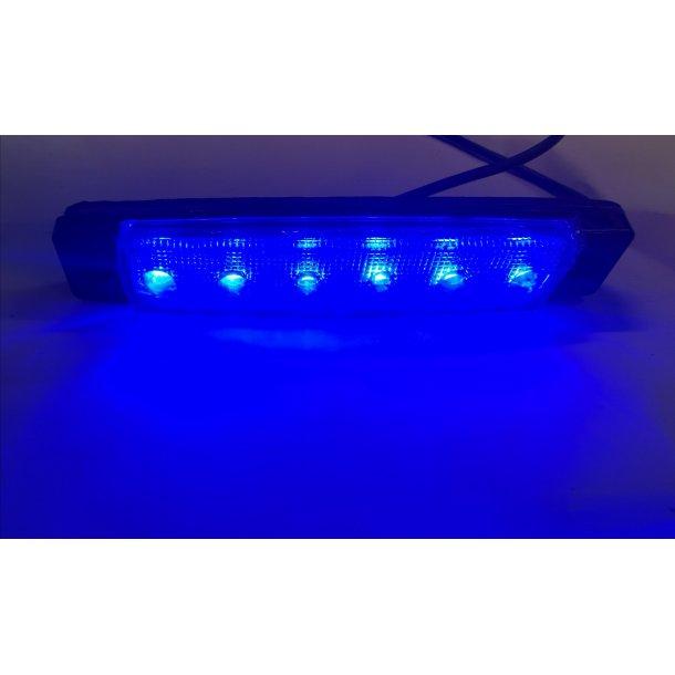 6 LED Blå. 12Volt Markeringslygter.