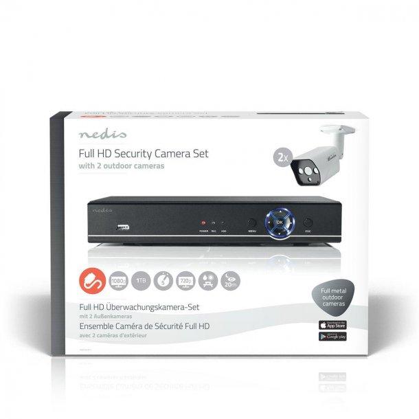 CCTV-overvågningsoptagersæt | 2 x kameraer medfølger