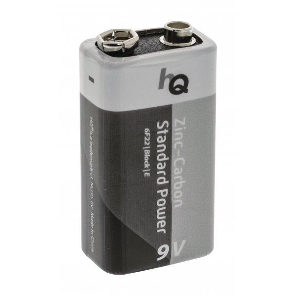 Batteri Zinc-Carbon 9V 6F22 1 stk