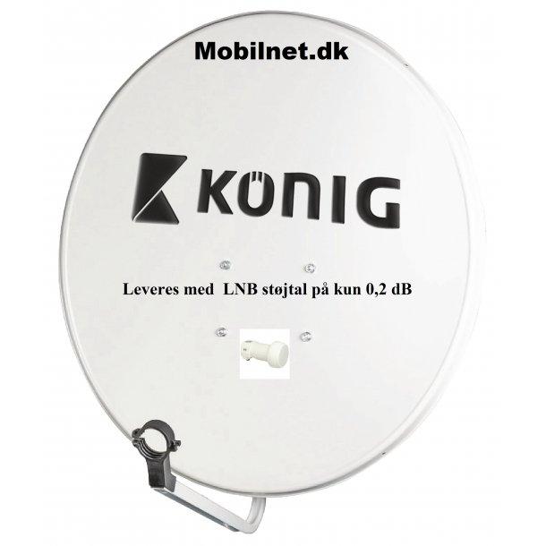 Parabol 80 cm + LNB støjtal på kun 0,2 dB, Kønig Tysk