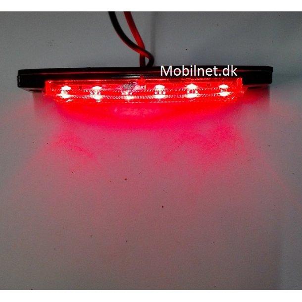 6 LED Rød. 12Volt  Markeringslygter.