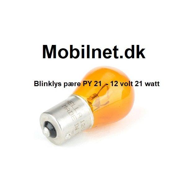 Blinklys Pære, 12V-21W - PY21