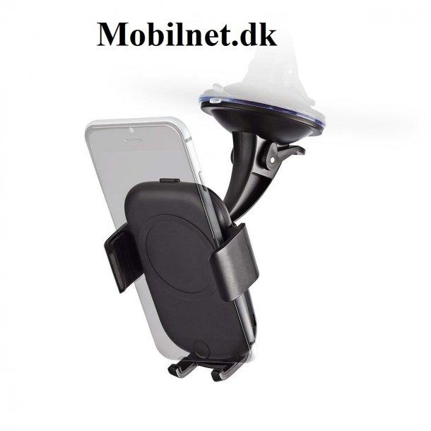 Trådløs opladning i bilen med denne mobilholder / telefonholder